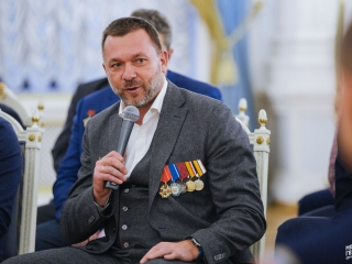 Дмитрий Саблин на встрече с Дмитрием Медведевым