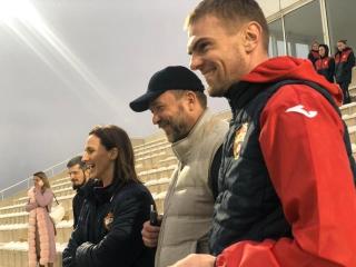 Дмитрий Саблин поздравил футболисток ЦСКА